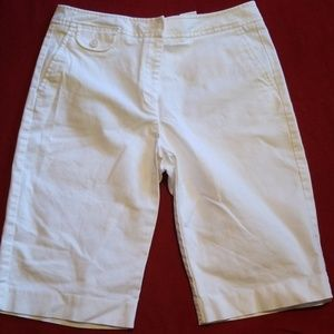 Talbots white stretch shorts